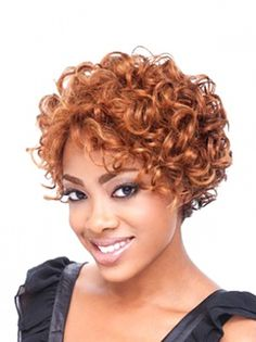 Short Curly African American Wigs