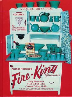 Fire King was king of the kitchen! Love the Hoosier cupboard.
