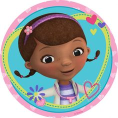 Buy the Doc Mcstuffins cake print available in Round Doc Mcstuffins Cupcakes, Doc Mcstuffins Birthday Party, 3rd Birthday Parties, 4th Birthday, Doctor Mcstuffins, Bottle Cap Images, Bottle Caps, Event Planning Business, Ideas Para Fiestas