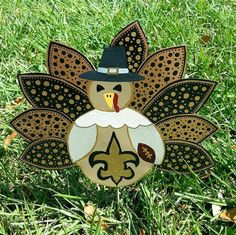 Team Turkey Pilgrim Yard Decoration Football Decor Team Pride