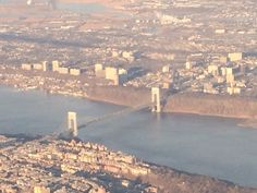 Flying above the George Washington Bridge and Hudson River en route to Toronto…