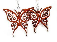 Jewelry Tree, Wooden Jewelry, Diy Jewelry, Handmade Jewelry, Jewelry Design, Jewelry Making, Wood Earrings, Leather Earrings, Leather Jewelry