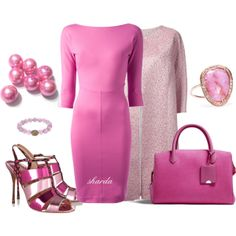 """pink"" by gaitriesharda on Polyvore"