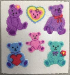Sandylion stickers are in high demand by collectors. All Things Cute, Picture Design, Cute Stickers, Sticker Design, Wall Collage, Art Inspo, Childhood, Teddy Bear, Kids Rugs