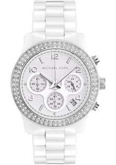 Michael Kors MK5188 Watches,Women's Chronograph White Crystal White Ceramic, Women's Michael Kors Quartz Watches
