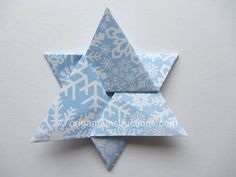 http://www.origami-instructions.com/easy-origami-star-of-david.html