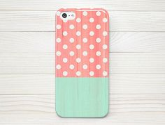 iPhone 5 Case, iPhone 5 Cases, iPhone 5 Wrap Around Case - Polka Dot Wood - 209 on Etsy, $16.99