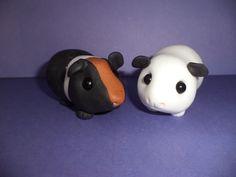 2 x handmade edible guinea pig cake toppers customised
