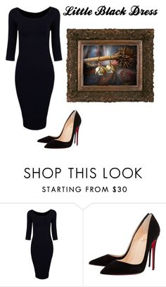 """Little Black Dress"" by jillsjoyagol ❤ liked on Polyvore featuring Christian Louboutin and vintage"