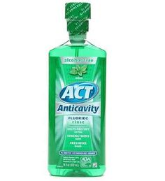 """Plaintiff Lauren Foster says that the claim on the packaging of ACT Mouthwash products that the mouth rinse is able to """"'rebuild tooth enamel'"""" is inaccurate. Description from topclassactions.com. I searched for this on bing.com/images"""