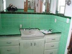 vintage green bathrom - Bing Images