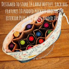Essential Oil Case Pattern ~ Padded Storage for up to 14 Bottles ~ PDF File ~ Sew Your Own Essential Oil Bag