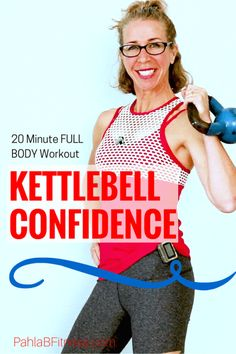KETTLEBELL CONFIDENCE _ 20 Minute Total Body CARDIO + STRENGTH Body Shaping Workout without Jumping - Full Length Home Workout from Pahla B Fitness