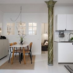 Loft comedor columnas