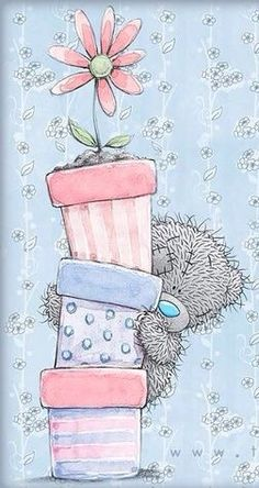 Teddy Bear Images, Teddy Pictures, Cute Pictures, Tatty Teddy, Happy Birthday Images, Happy Birthday Greetings, Hello Kitty My Melody, Blue Nose Friends, Baby Posters