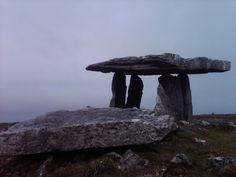 Celtic:  Poulnabrone Tomb, circa 4000 BCE, The Burren, West Ireland.