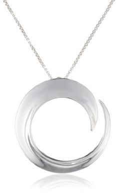 "Sterling Silver ""A Journey Is Best Measured By Friends Not Miles"" Circle Pendant Necklace, 18"""