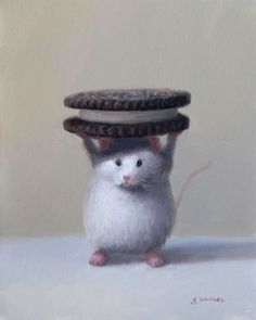 Mouse with a cookie