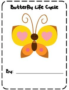 Here's a butterfly life cycle booklet. Students can illustrate the different stages of the life cycle of a butterfly and write observations on the lines below.