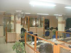 Interior works of Canara Bank. by Mathewandsaira Architects in Cochin