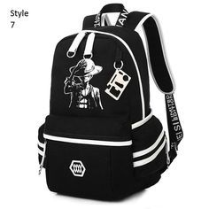 ed0ebdc3f95d 2016 Japanese Anime One Piece Printing Backpack For Teens Baymax Cat Canvas  Fashion Student School Bag