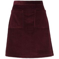 A.P.C. Corduroy Skirt (€145) ❤ liked on Polyvore featuring skirts, bottoms, red, red corduroy skirt, corduroy skirt, red skirt, brown skirt and brown corduroy skirt