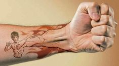 Great Bruce Lee Tattoo