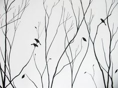 Autumn Tree Painting Home Walls Design Ideas | nature
