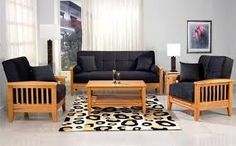 Image result for wooden sofa
