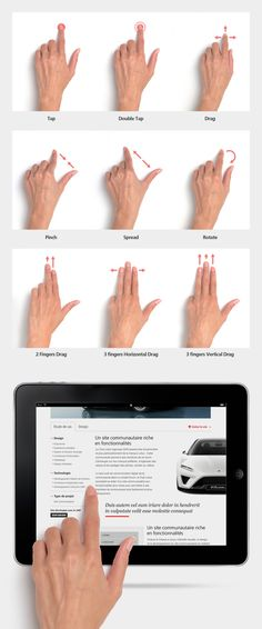 Touch Gestures PSD - Free Download