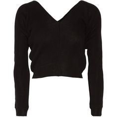 Ballet Beautiful Wool-blend sweater (3.300 ARS) ❤ liked on Polyvore featuring tops, sweaters, ballerina top, wool blend sweater, plunging-neckline tops, ballet top and ballet beautiful