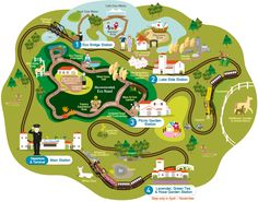 Guide Map to EcoLand theme park on Jeju