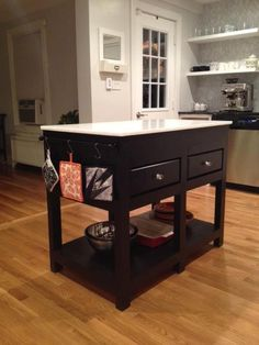 Kitchen Island 36 Wide $65 (26 x 18 x 36) tv stand or rolling kitchen island | office