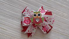 Hair Bow Boutique with Owl Hair Bow School от JuliaBabyShop