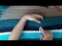 Como emendar fio de malha no crochê - YouTube
