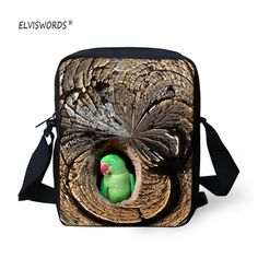 13e7751c501e ELVISWORDS Owl School Bags Small Messenger Bag Waterproof Polyester Mini  Crossbody Bag Cute Cartoon Animal Printed