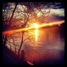 Sunset over the Thames River, London