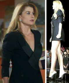 Diana (Aline Moraes) terno preto