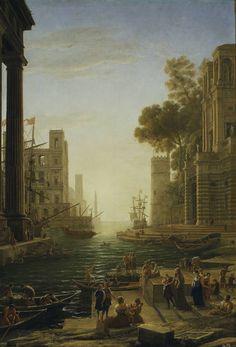 Claudio de Lorena - Embarkation of Saint Paula @ Museo Nacional del Prado, Madrid
