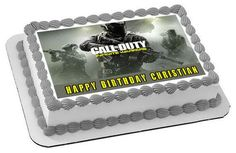 Call of Duty Infinite Warfare Edible Birthday Cake Topper OR Cupcake Topper, Decor