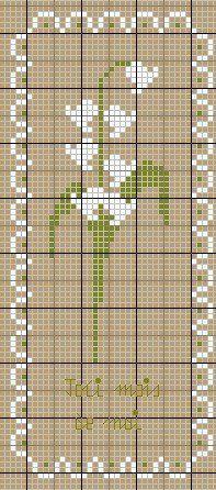Il y en a qui pensent que le muguet... - Les chroniques de Frimousse lily of the valley cross stitch
