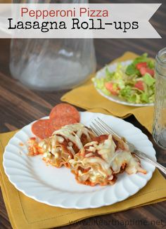 Pepperoni Pizza Lasagna Roll-ups ... you wont believe how easy these are to make!