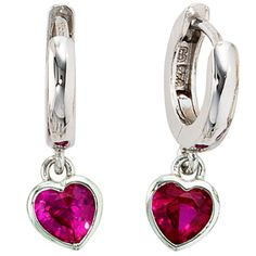 G 1, Panzer, Heart Ring, Pink, Cufflinks, Plating, Sterling Silver, Accessories, Silver Earrings