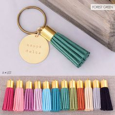 Get your Kappa Delta Tassel on with this cute Kappa Delta Sorority Keychain. Available in an assortment of tassel colors from www.alistgreek.com. Makes a great initiation. bid day or big/little gift! #kappadelta