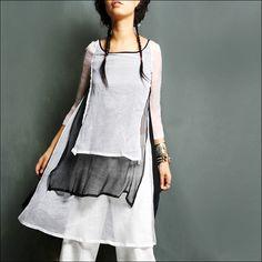 Tuniken - träumen leichter als Cloud Seide Tunika-Kleid - ein Designerstück von idea2lifestyle bei DaWanda