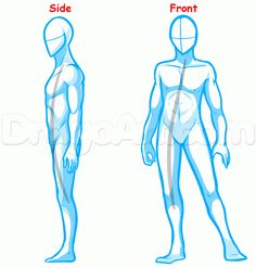 how to draw a body for beginners step 1