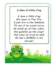 We read our poem every morning as part of our meeting. We look for sight words and practice throughout the week. The kids then put it in their poetry binder at the end of the week for continuous practice. Baby Poems, Kids Poems, Rhyming Activities, Preschool Songs, Kindergarten Poetry, Small Poems, Poetry Journal, Frog Life
