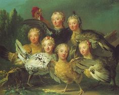 The Hens Painting, 1747 attributed to Johan Pasch the Elder (Swedish, 1706–1769)