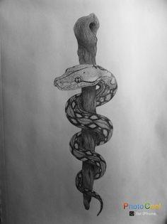 Rod of Asclepius by LauraStephenson1979.deviantart.com on @DeviantArt