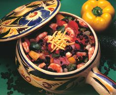 "Shrimp and Black Bean Soup, from ""Hooked on Seafood"" cookbook."